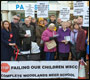 woodlands meed protest at county hall;