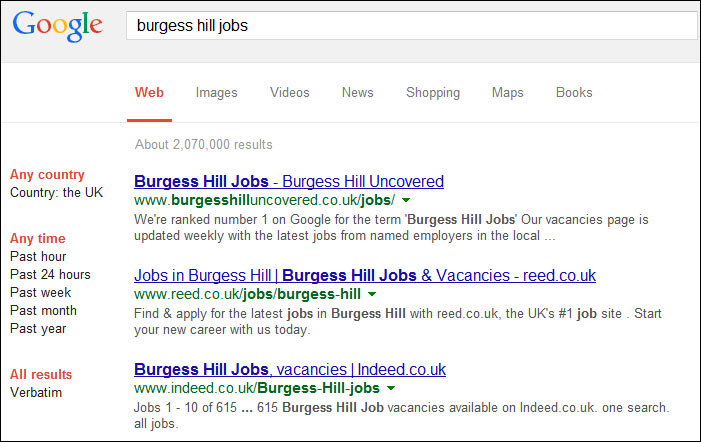 Burgess Hill Jobs - Advertise Your Vacancy