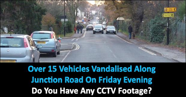 over 15 vehicles vandalised along junction road. Black Bedroom Furniture Sets. Home Design Ideas