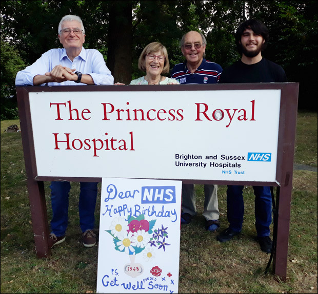 Members Of The Burgess Hill Labour Party Delivered Card In Person To Staff At Princess Royal Hospital Haywards Heath Last Week